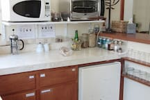 Plenty of counter-top for cooking and meal preparation.