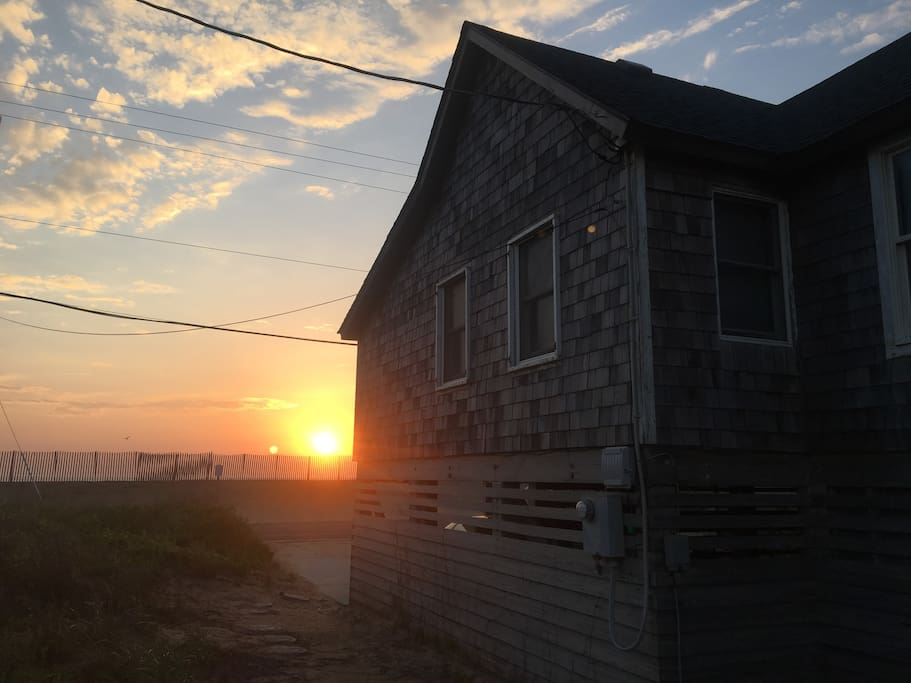 Watch the morning sunrise over the Atlantic ocean right from the cottage!