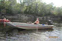 Bigger fishermen and women can enjoy the nearby  Satilla River by putting in their own boats at our community boat ramp.
