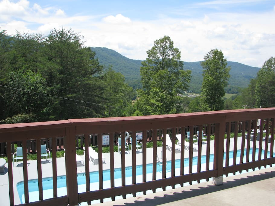 View of Rich Mountain from the top level deck