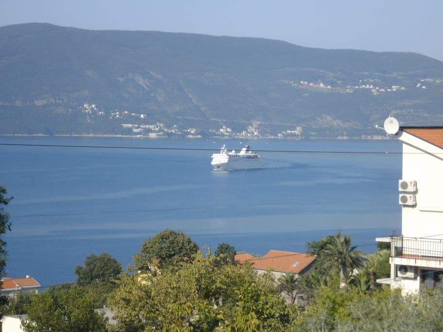 view of herceg novi from balcony