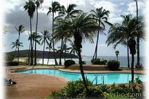 Ocean side pool with breath taking views.