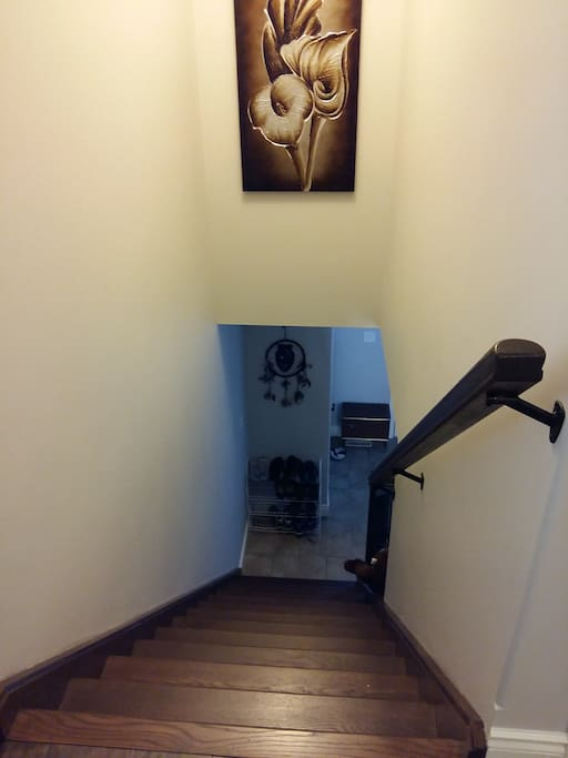 Staircase up to the bedrooms