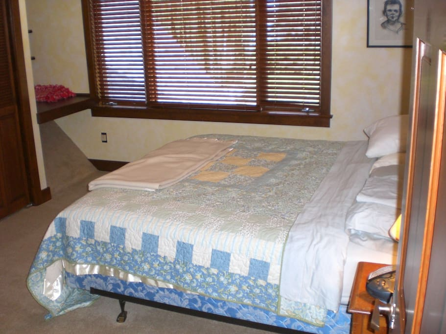 King size bed and bedroom