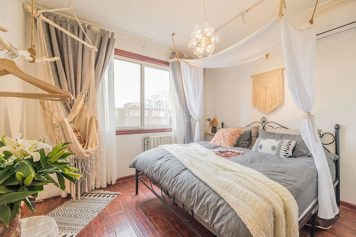 [Home style 1] 紧邻大雁塔  小寨 钟楼 回民街的阳光大床房