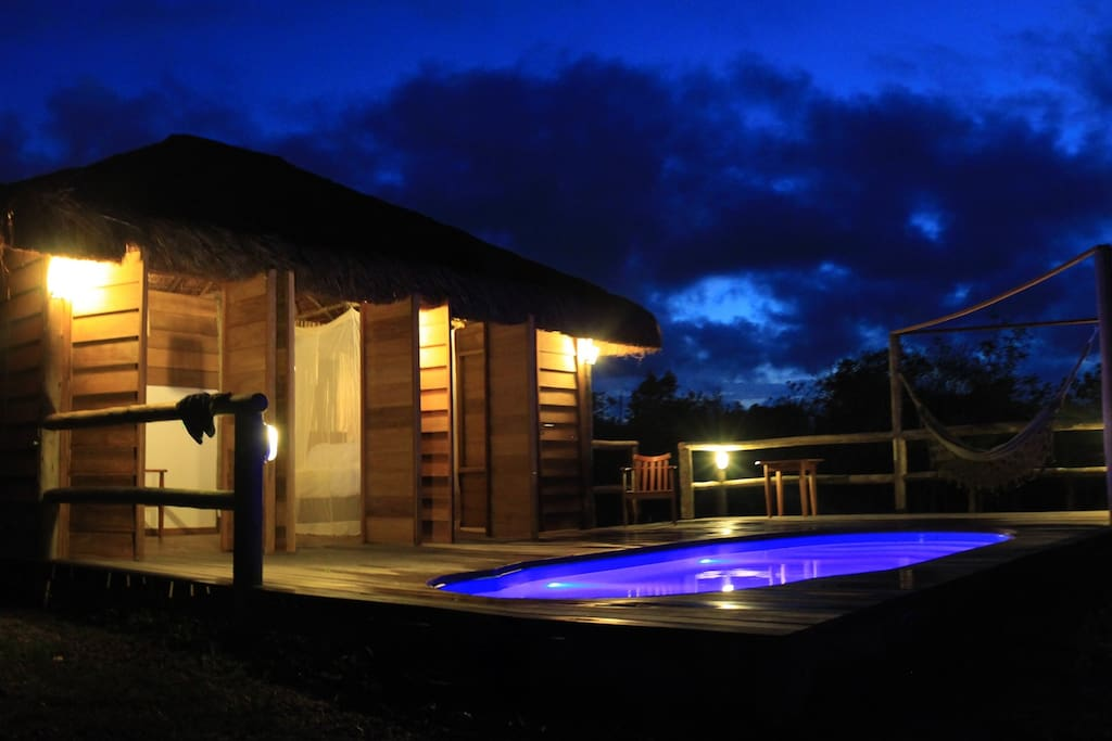 lodge by night!