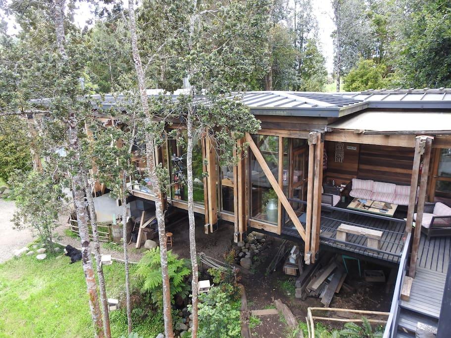 Vista terraza tercer piso