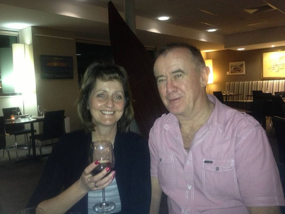 Your hosts Leita and Kev - we look forward to your stay with us!
