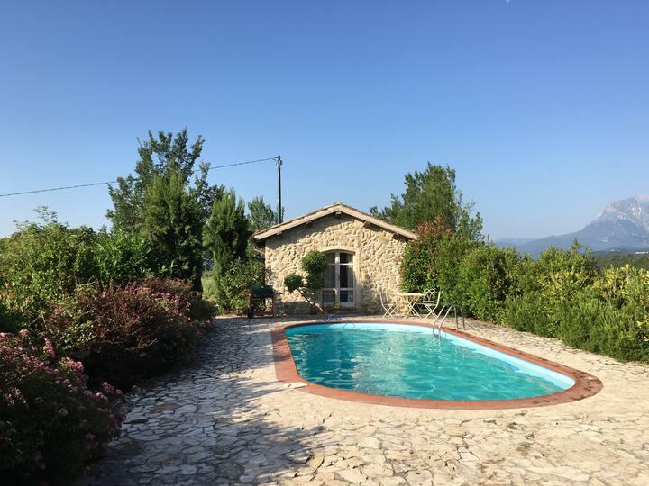 Schitterend tuinhuis met privé zwembad
