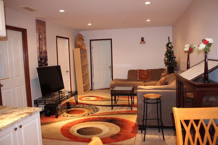 An immaculate basement a guest wouldn't miss!