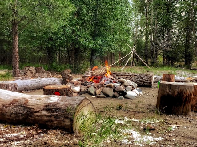 Hang out by one of our fire pits in the fall or winter