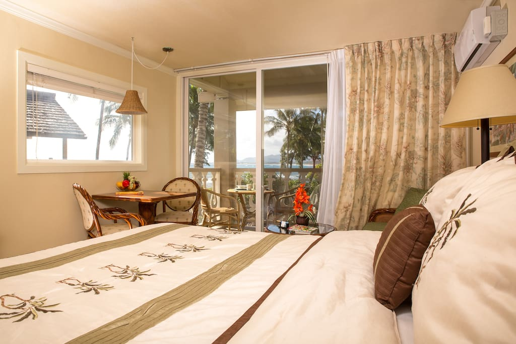 Ocean view from the comfort of the bed!