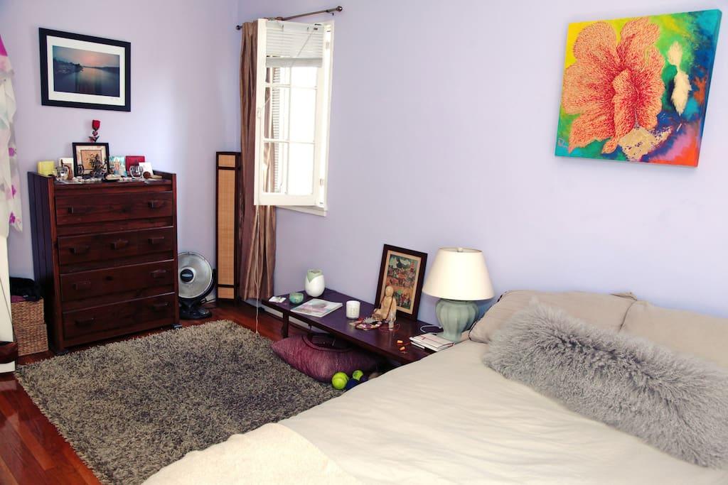 Spacious bedroom, sleeps two, plenty of space