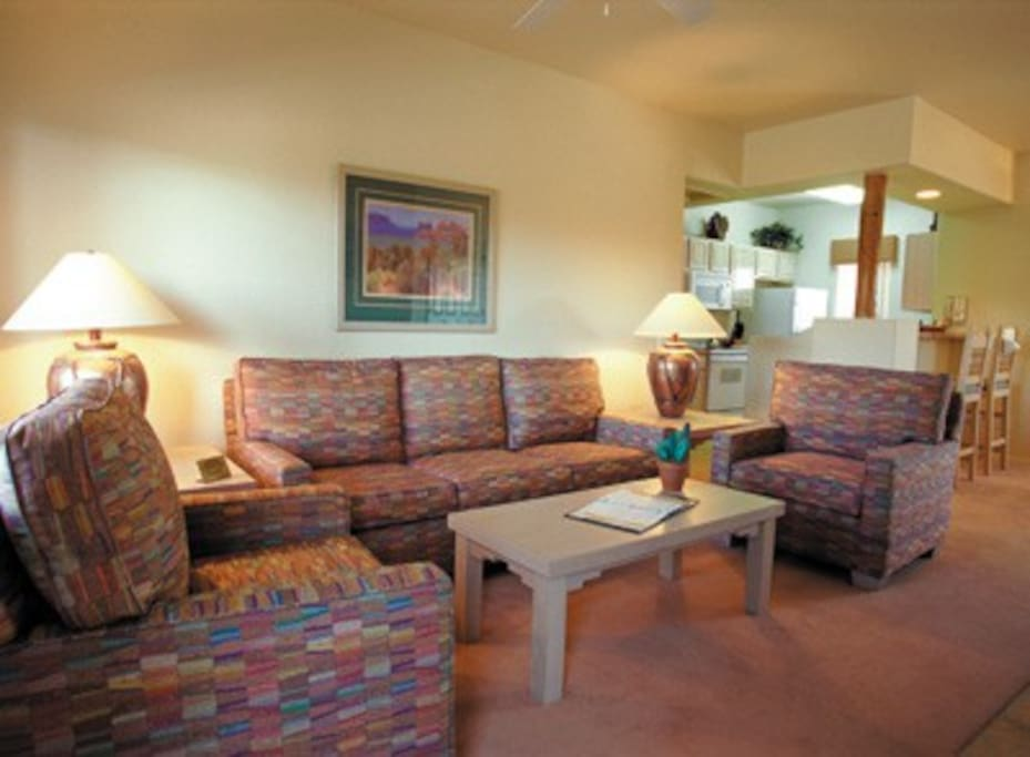The interior photos are not unit specific, but are indicative of the value and decor of all the resort units.