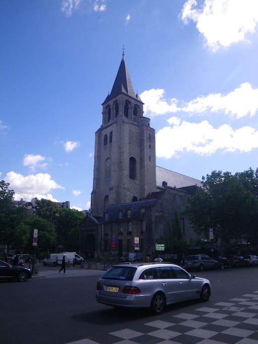 Eglise St Germain des Pres, the oldest church in Paris...
