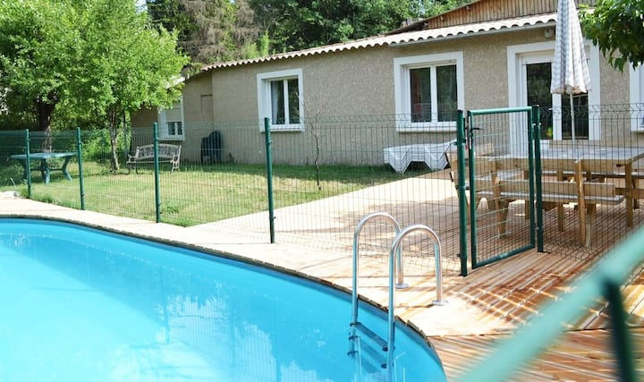 Maison avec piscine privative jusqu'à 10 personnes