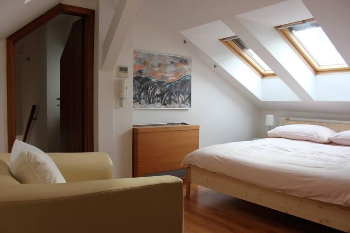 Mala Strana ~ Private Room & Bath for 2-3 with AC