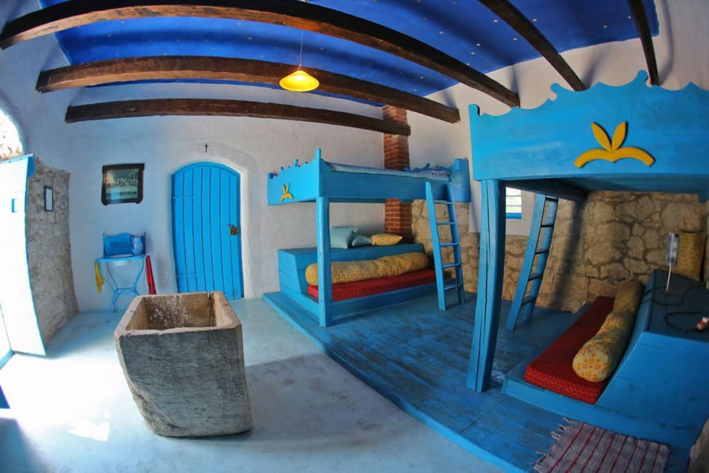 bedroom with double bunk beds