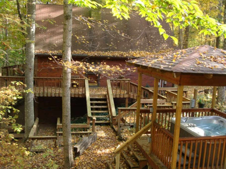 Wooded fabulous brown county cabin cabins for rent in for Ponte coperto cabina brown county
