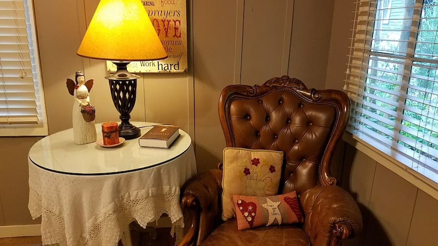 Reading nook in the Cottage sitting room