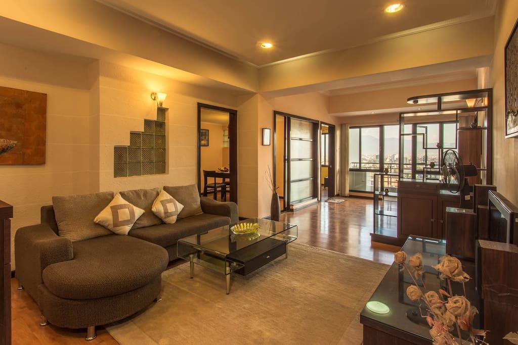 Large wide living room