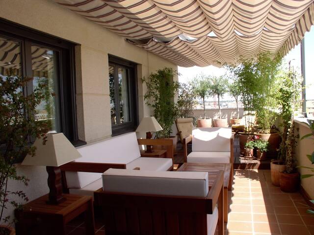 2 habitaciones en maravilloso ático con terrazas - Madrid - Huis