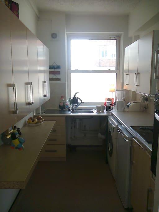 Kitchen with all general kitchen needs.