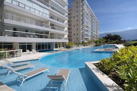 Apartamento Praia Bertioga Boulevard Frente Mar
