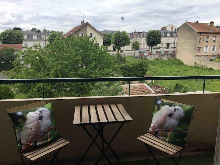 Boheme-chic Parking privé et balcon
