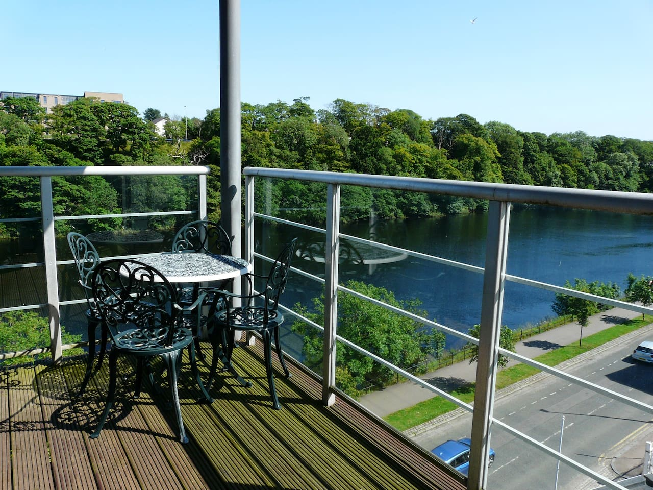 Fantastic views as you sit and enjoy a dram or a glass of wine.