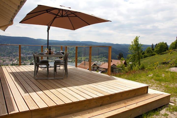 Panoramic view to Gerardmer lake - Gérardmer - Apartemen