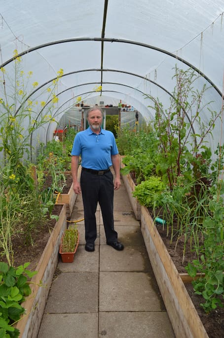 Self service polytunnel pick your own organic breakfast lunch and supper.