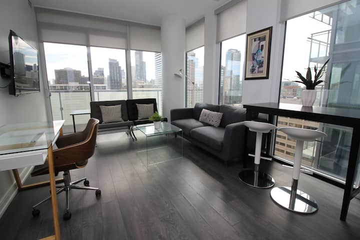 Nice Modern Quiet 2 bedroom Condo Downtown Toronto