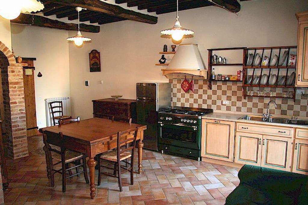 cucina soggiorno Porcino