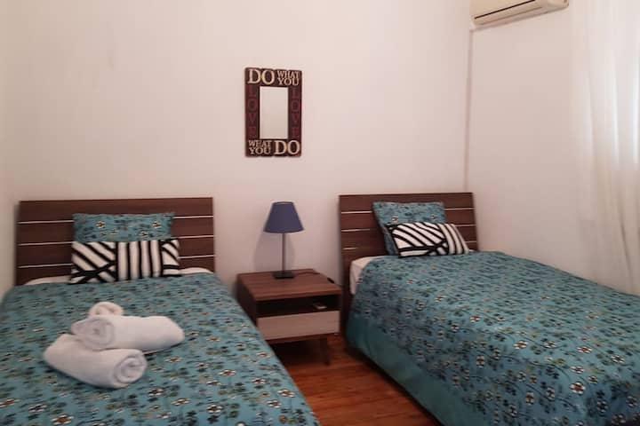 Private Room in Old Nicosia Centre(2 single beds)