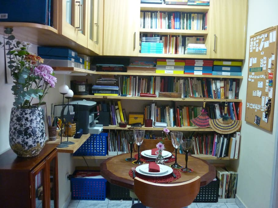 A place for books and meals