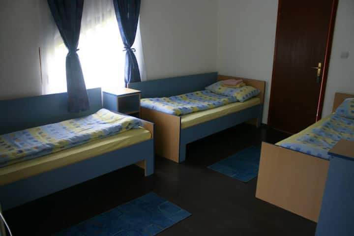Cosy room in motel for 3 person