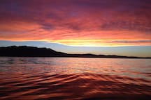 Sunset from the canoe.