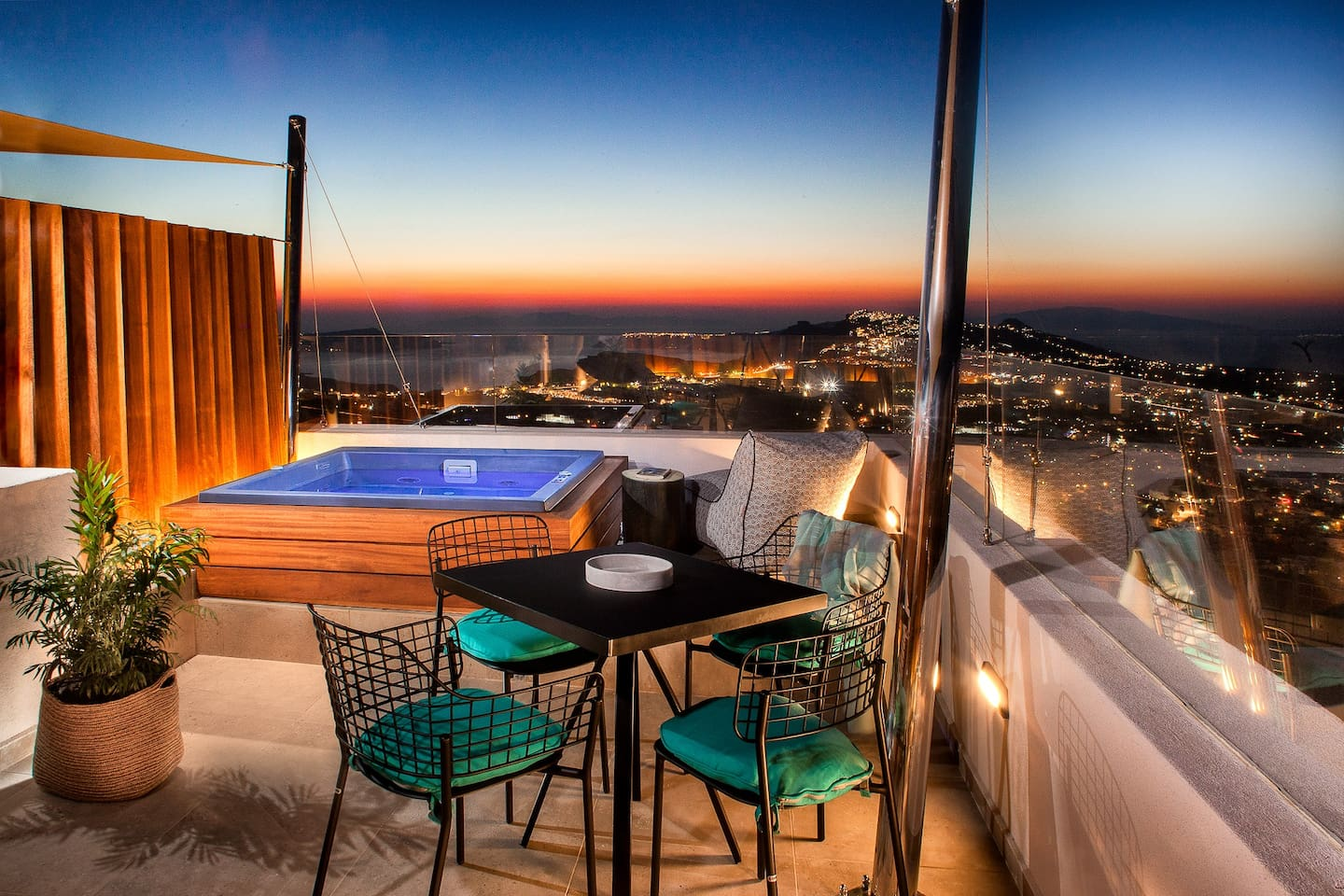 Private terrace sunset view