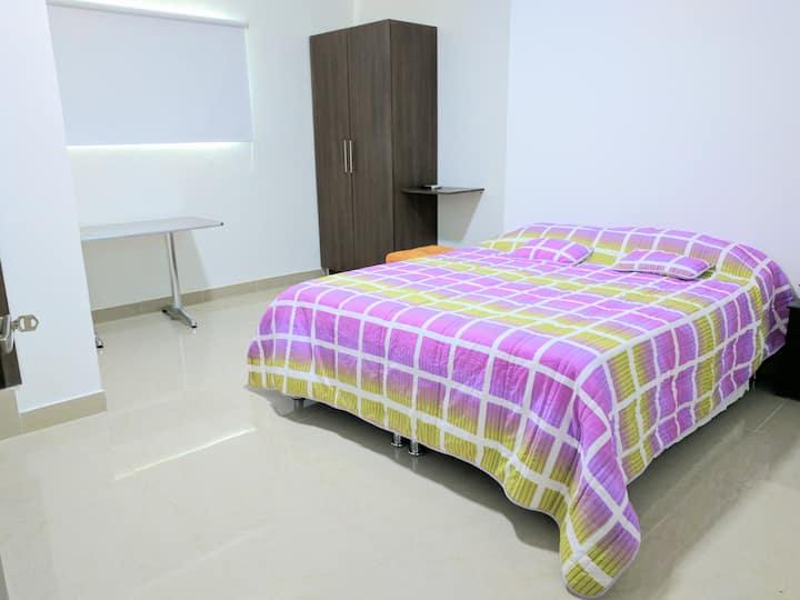 Habitación 208 tipo Suite Hotelera con Aire