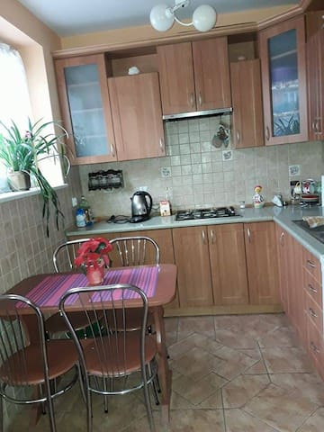Studio-big room witch kitchen,bathroom and balcony - Minsk Mazowiecki - Apartemen
