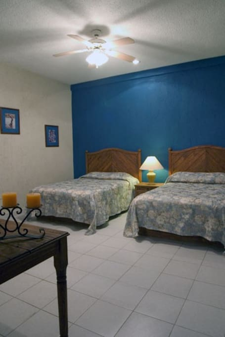 Two matrimonial beds with all the bedding and other needs so you can just move right in...