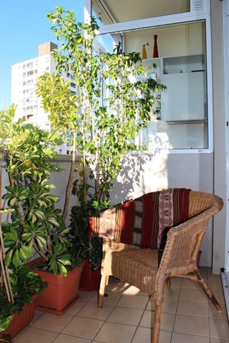 Nice and warm balcony