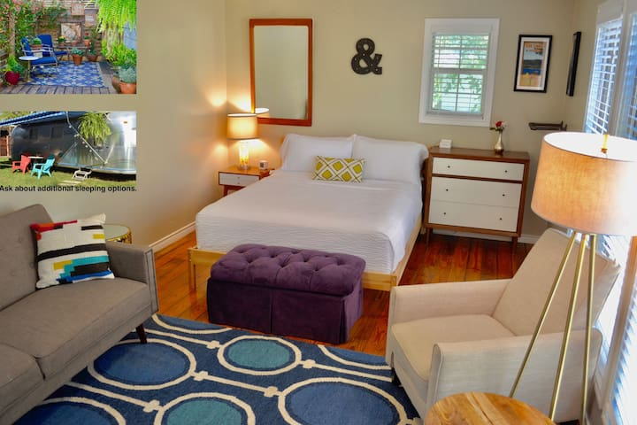 Modern Cottage,  Private Patio,  Close to downtown - Austin - Guesthouse