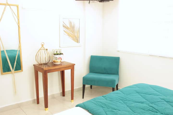 R1 Chic Room[Rooftop+Workplace+Relaxing]5min beach