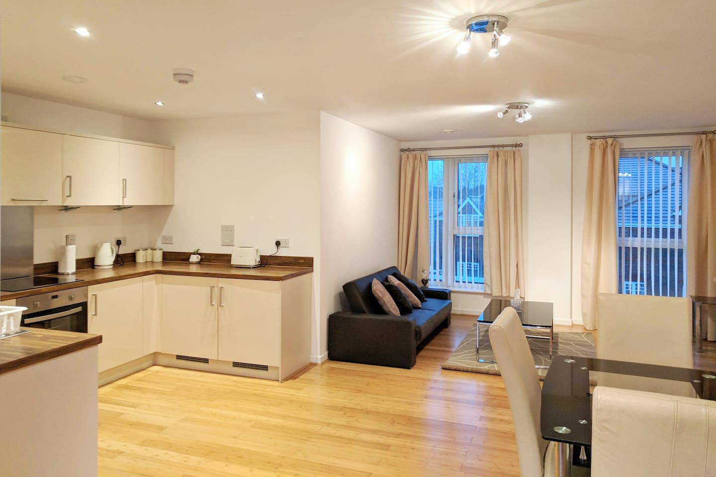 Plenty of dining and living space to call your own home