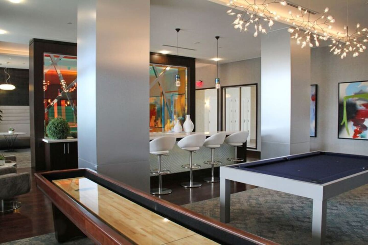 Billiards in our community room
