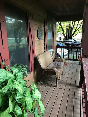 Sit and enjoy a book on porch