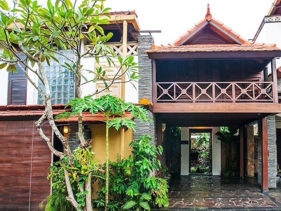 """Taman Toya"" Villa entrance."