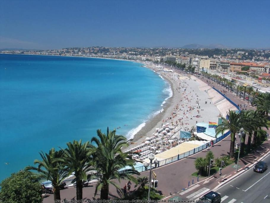 The apartment is located just 50 metres from beach and promenade des anglais - this is NOT the view from the apartment!!